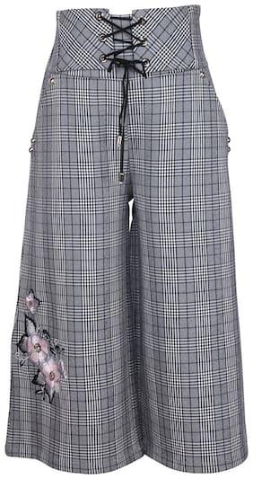 Cutecumber Girl Polyester Trousers - Grey