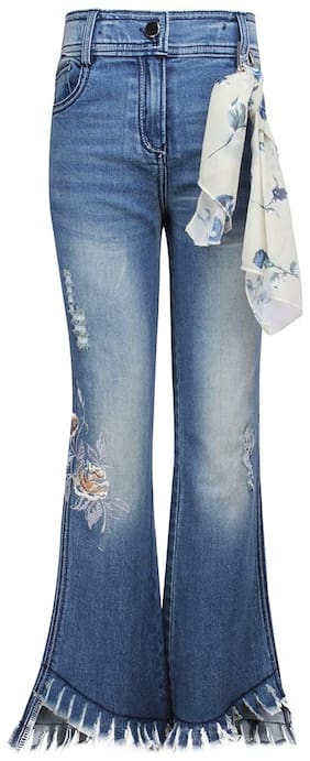 Cutecumber Basic Flared fit Jeans for Girls - Blue
