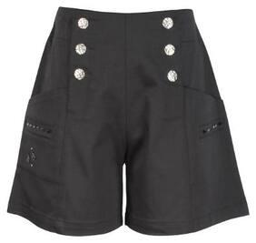 Cutecumber Girl Polyester Solid Regular shorts - Black