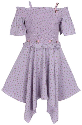 Cutecumber Purple Polyester Sleeveless Knee Length Princess Frock ( Pack of 1 )
