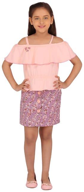 Cutecumber Girl Knitted Top & Bottom Set - Purple