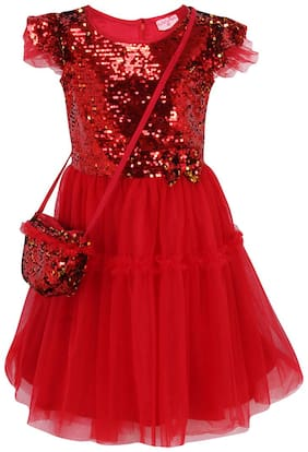 Red Fit And Flare Dress