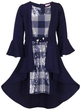 Cutecumber Partywear Embellished 3/4 Sleeves Dress