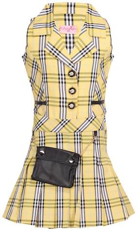 Cutecumber Girl Cotton Top & Bottom Set - Yellow