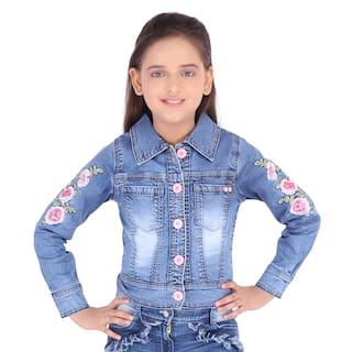 Cutecumber Girl Denim Solid Shirt - Blue