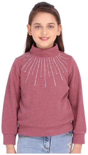 Cutecumber Girl Knitted Solid Top - Maroon