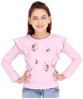 Cutecumber Girl Knitted Striped Top - Pink