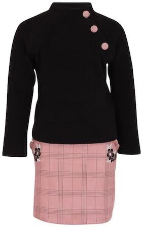 Cutecumber Girl Polyester Top & Bottom Set - Black