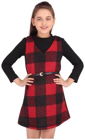 Cutecumber Black Polyester Full Sleeves Knee Length Princess Frock ( Pack of 1 )