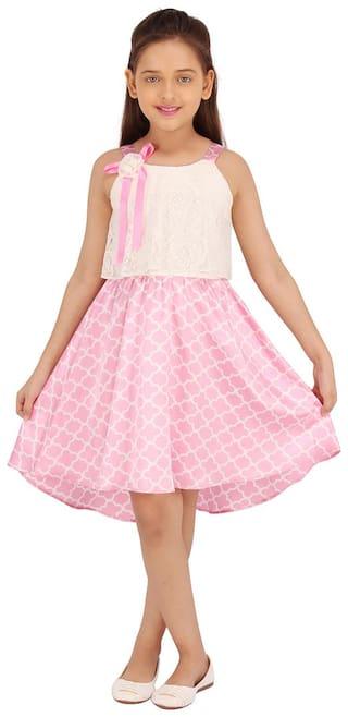CutecumberSmart Casual Printed High-Low Dress