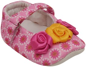 D'chica Pink Ballerinas For Infants