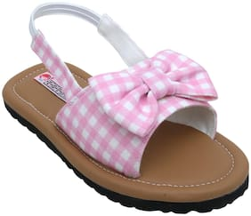 D'chica Pink Sandals For Girls
