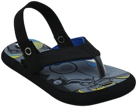 D'chica Bro Funky Print Flip Flops With Backstraps For Boys