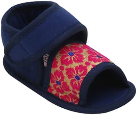 D'chica Blue & Pink Sandals For Infants