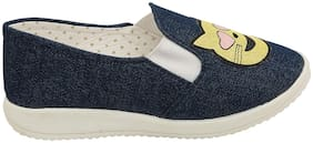 D'chica Navy blue Casual Shoes For Infants