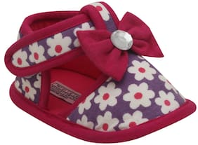 D'chica Purple Sandals For Infants