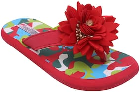 D'chica Red Girls Slippers