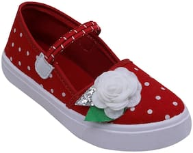 D'chica Red Casual Shoes For Girls