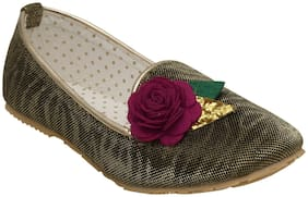 D'chica Gold Ballerinas For Infants