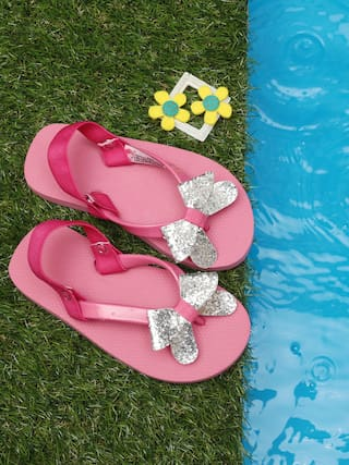 7a5158839 Buy D chica Shimemery Bow Flip Flops For Girls Online at Low Prices ...