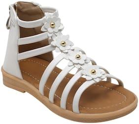 D'chica White Sandals For Girls