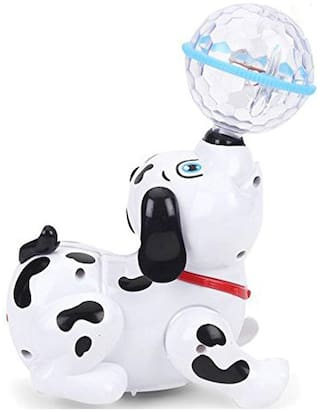 Dancing Dog Toy For Kids With Wonderful Music & Multicolor Flashing Lights From Pikaboo