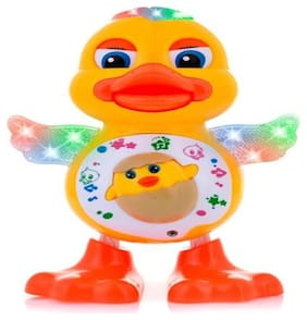 Dancing Duck Toy with Real Dancing Action & Music Flashing Lights, Multi Color By Signomark.