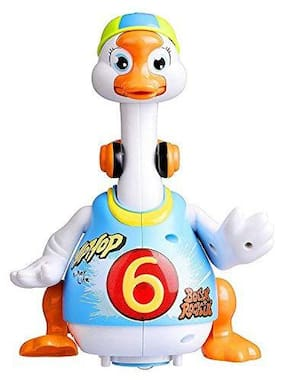 ODDEVEN Dancing Musical toy,Flashing Light Hip Hop Goose  (Multicolor)