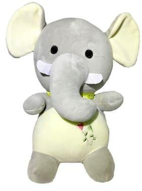 DANR Cute Baby Elephant Stuffed Soft Plush Toy for Kids 31 cm 511-Elephant-Grey