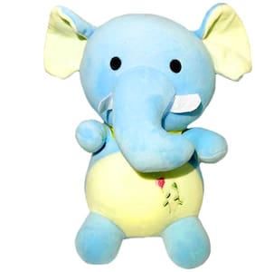 DANR Cute Baby Elephant Stuffed Soft Plush Toy for Kids 31 cm 511-Elephant-Blue