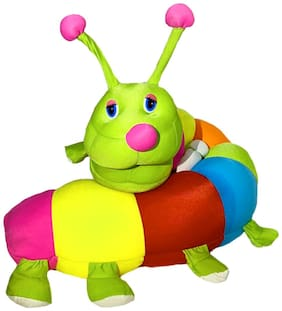 DANR Cute Caterpillar Soft Toy for Kids Multicolor Plush 80 cm 1123-Caterpillar-Multi