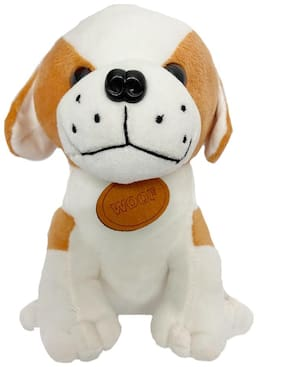 DANR Dog EF Animal Plush Soft Toy Looks just Like The Real one The Silky Fur Coat Along with The Sharp Nose and Prompt Ears;Will Make This Dog Your Child's Favourite ( Size;- 26 cm)