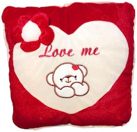 DANR Love Heart Shape Soft Plush Cushion Pillow in Red Color Pack of (001) Gifts for Birthday's Return Gifts;Lover;Sister;Brother;Friends (34 cm) 2409-Heart-Red