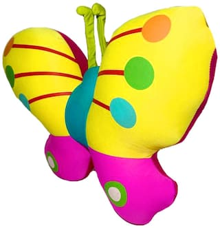 DANR Multicolor Butterfly Stuffed Soft Toy for Kids (31. cm) 803-yellow