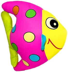 DANR Multicolor Fish Stuffed Soft Plush Toys for Kids 30 cm 1125-Fish-yellow-Pink