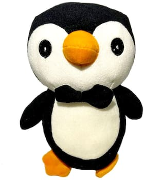 DANR Penguin Soft Toys for Kids Super Soft Penguin Toy with Bow (508 Penguin ) (Black)