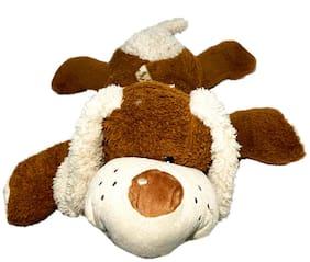 DANR Soft Lying Dog Soft Toy for Kids;Puppy Soft Toys Stuffed Animals Cute ( 59 cm ) 648-Dog-Brown