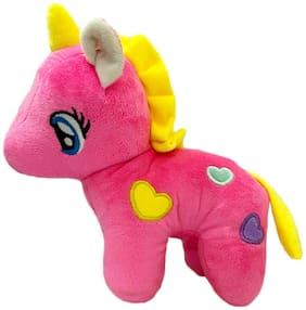 DANR Soft Plush Toy Unicorn for Kids - Dark Pink - 35cm