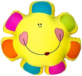 DANR Sunflowers Emoji Emoticon Smiley Face Soft Stuffed Plush Toys for Kids 38 cm 1124-Sunflower-Yellow-Multi