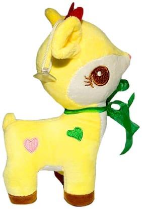 DANR Super Soft Stuffed Plush Deer Toy Soft for Kids 352-Deer-Yellow