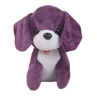 Danr Supersoft  Stuffed Puppy Dog For Kids (5102 Dog Purple)