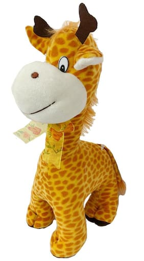 DANR This Giraffe Soft Toy is Made of The Softest and Finest Fabrics to Enable a Luxuriously Cosy and Comfortable Sleep for Your Kid (Size :- 39 cm)