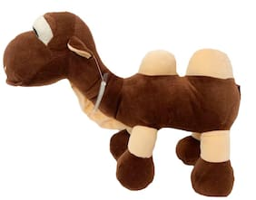 DANR Your Little Child Would Love to be Presented with This Cute Brown Polyester Camel Soft Toy from. (Size :-43 cm)