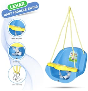 Dash Attractive and Sturdy Baby n Toddler Swing with Light and Music;Battery Included (Blue)
