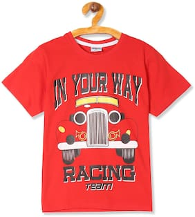 Day 2 Day Boy Cotton Printed T-shirt - Red