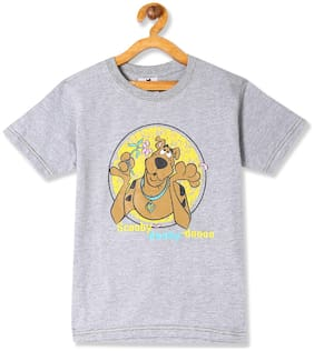 Day 2 Day Boy Cotton Printed T-shirt - Grey