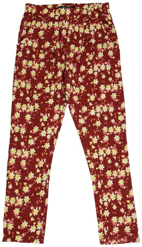 De Moza Girl Cotton Trousers - Maroon