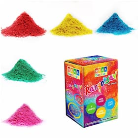 DealBindaas Rangotasav Holi Colour Herbal Gulal 250 GMS 5 Shades| NonToxic | Eco Friendly | 100% Safe Holi Color Powder Pack of 1 - Assorted Colour