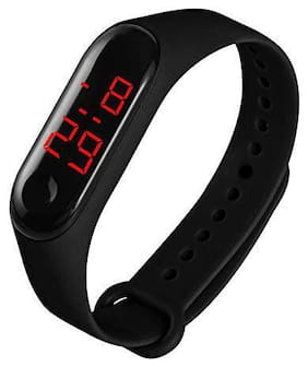 DealBindaas Digital Watch Fashion Rubber Unisex LED Time Date Sports Bracelet For Kids (Assorted Color)