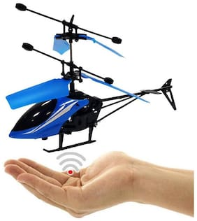 Dealbindaas Induction Type Hand Sensor Flying Helicopter Pack of 1 - Color May Vary Assorted Colors